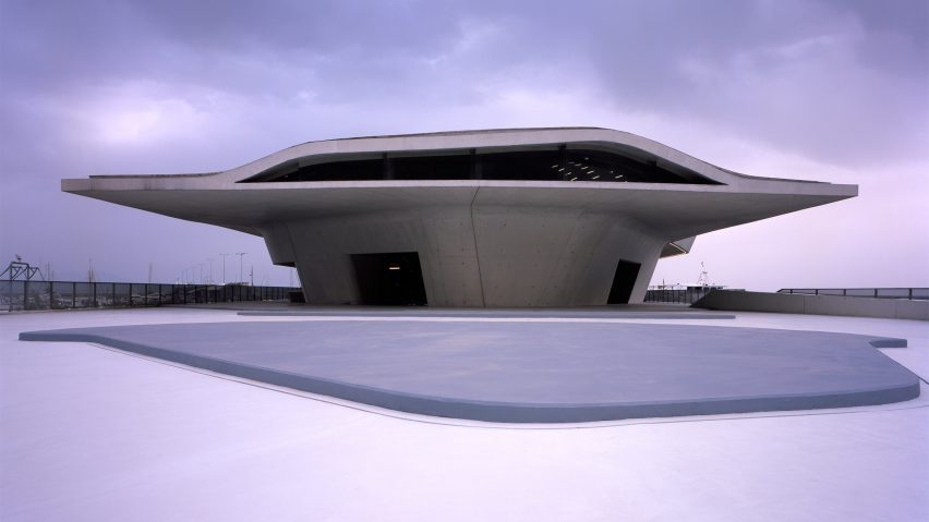 Salerno Maritime Terminal by Zaha Hadid. Photograph is by Helene Binet.