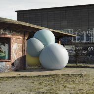 Charles Pétillon's photographs combine giant balloons and concrete architecture