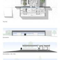 Plan of Sundial House by Specht Architects