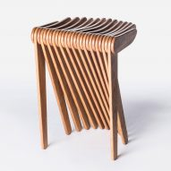 "Carlo Ratti experiments with ""programmable wood"" to make Swish stool for Cassina"