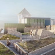 Jamie Fobert's cliffside extension to Tate St Ives nears completion