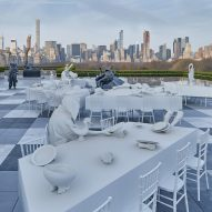 Adrián Villar Rojas installs banquet of hybrid sculptures on roof of New York's Met