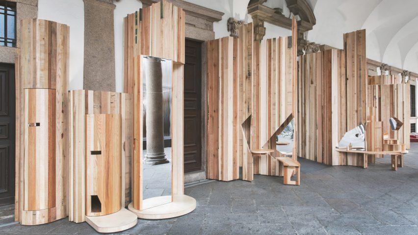 Benedetta Tagliabue Encases Pillars Of 15th Century Auditorium In