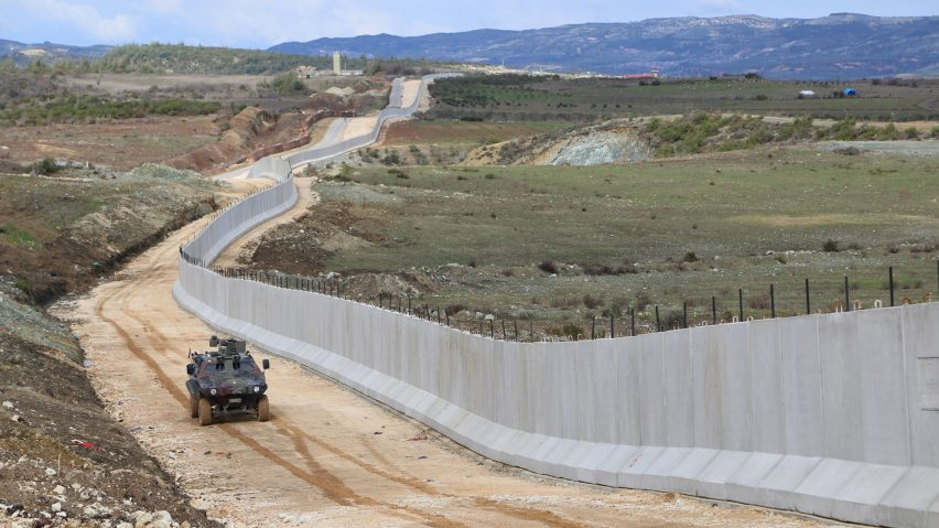 Image result for Syria-Turkey border wall completed