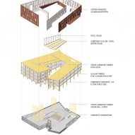 Diagram of the University of Massachusetts Amherst's design school by Leers Weinzapfel Associates