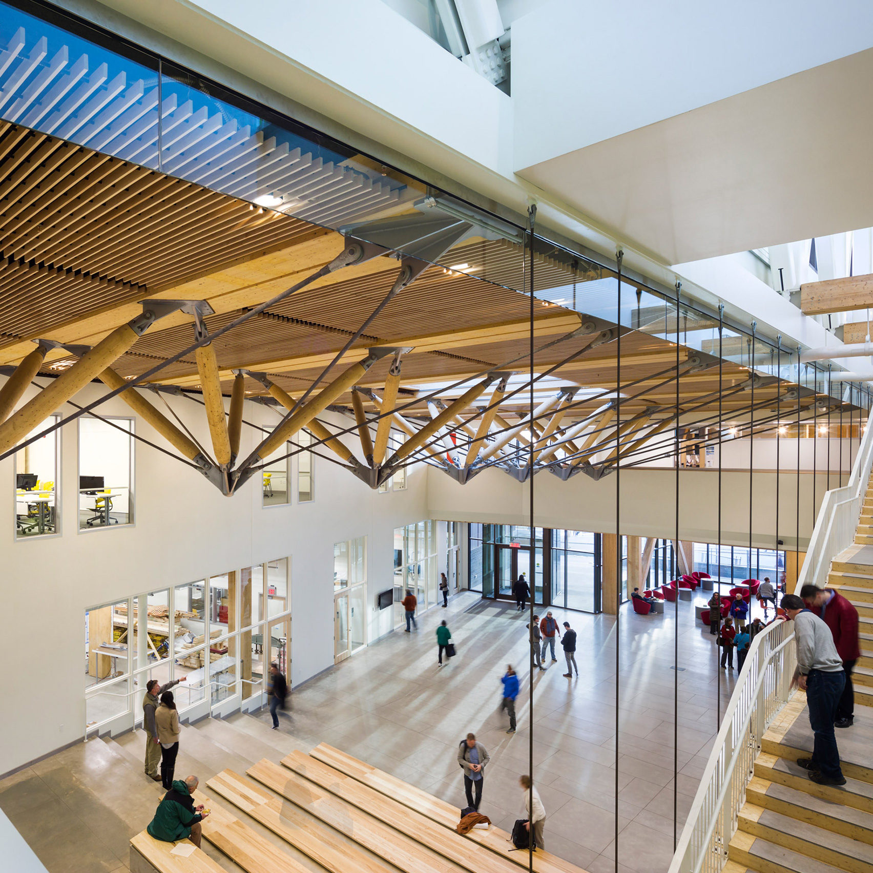 Leers Weinzapfel Completes Americas First Cross Laminated Timber Academic Building The University Of Massachusetts Amhersts New Design