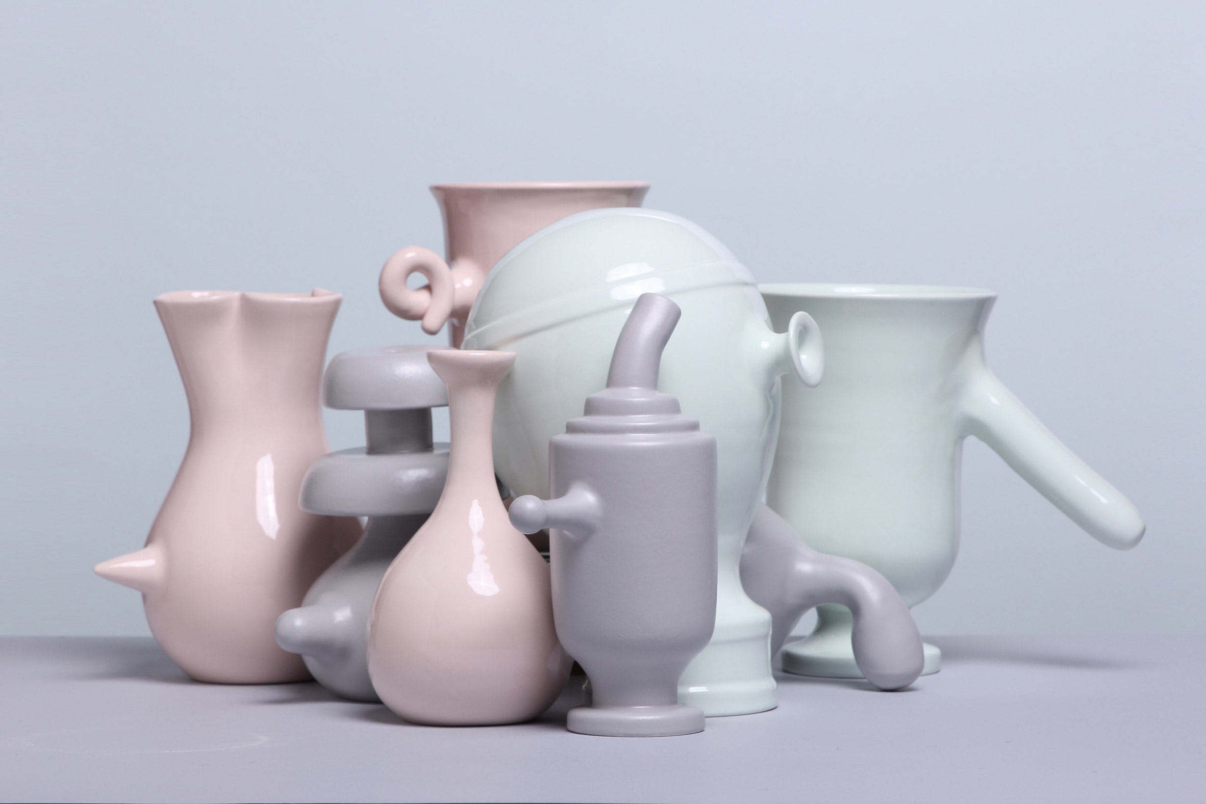 Phallic bumps and curly tails characterise Matteo Cibic's vase-a-day project