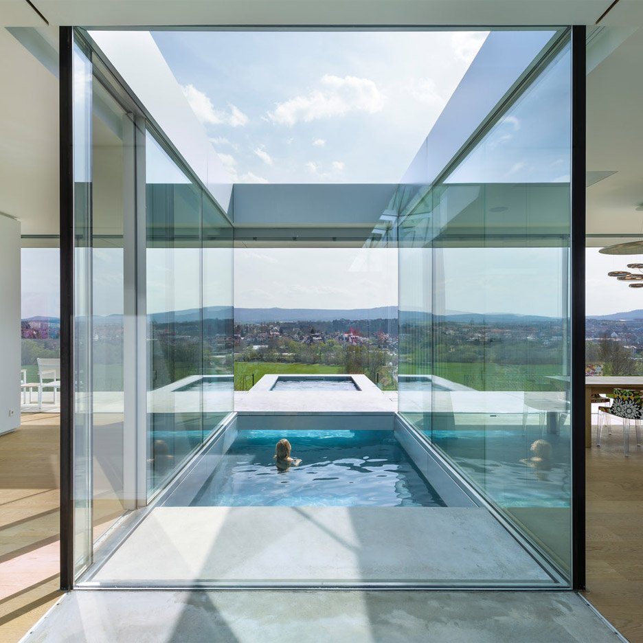 Swimming Pool Houses Designs world of architecture ibiza dream home by jaime serra spain modern pool housemodern poolsswimming pool designsswimming poolspool Villa K By Paul De Ruiter Architects Lies Long And Low On A German Hillside