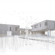 Drawing of Watermill House by Office of Architecture