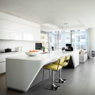 Interior of Zaha Hadid's 520 West 29th Street Apartments