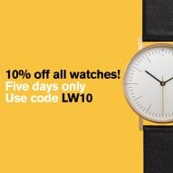 Dezeen Watch Store offers bank holiday discount on all watches