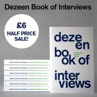 Half price sale! Buy Dezeen Book of Interviews for only £6