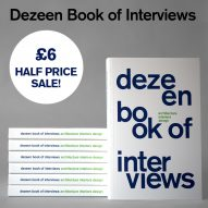 Half-price sale! Buy Dezeen Book of Interviews for only £6