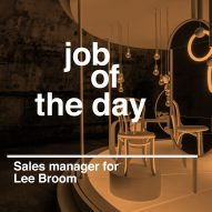 Job of the day: sales manager for Lee Broom