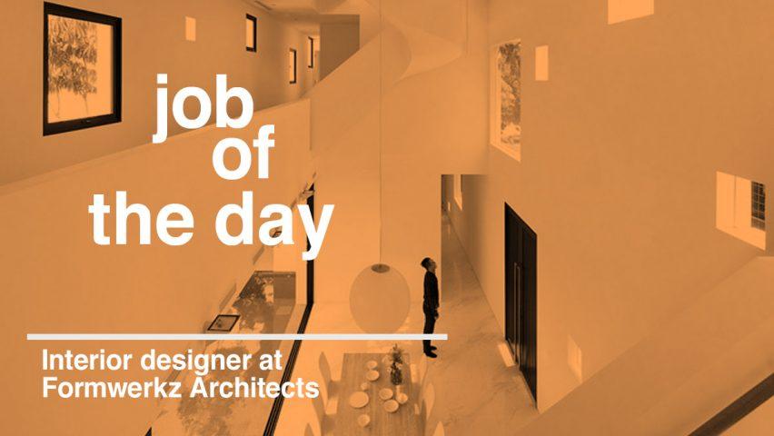 Job Of The Day Interior Designer At Formwerkz Architects
