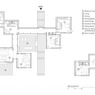 Floor plan of Artist Retreat by Gluck +