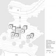 Site plan of Artist Retreat by Gluck +