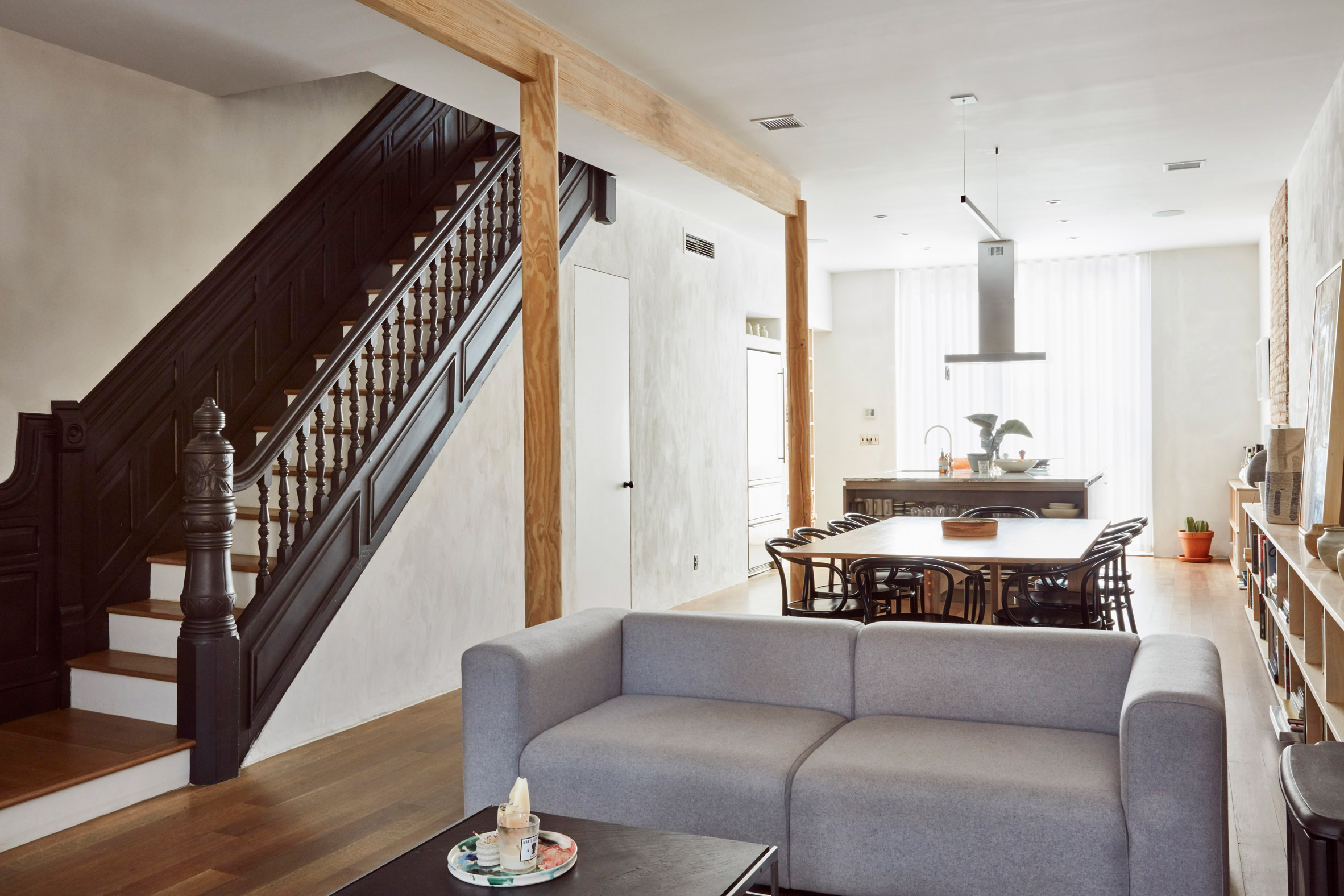 Lauren Snyder and Keith Burns create home inside overhauled brownstone in Brooklyn