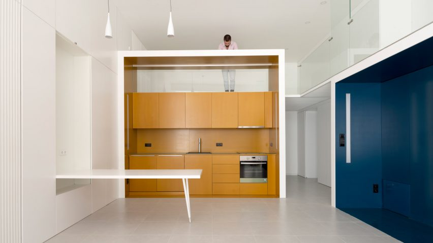 Elegant Waataa Transforms Lisbon Offices Into Compact Studio Apartments With Fold Out  Furniture
