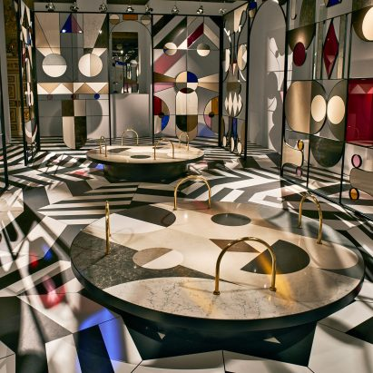 Jaime Hayon's Stone Age Folk installation for Caesarstone
