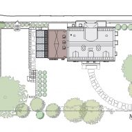 Site plan for Cambridge Residence by Stern McCaffery Architects