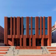 "Brickwork facade modelled on ""abstract menorah"" fronts Jewish community centre by Natoma Architects"