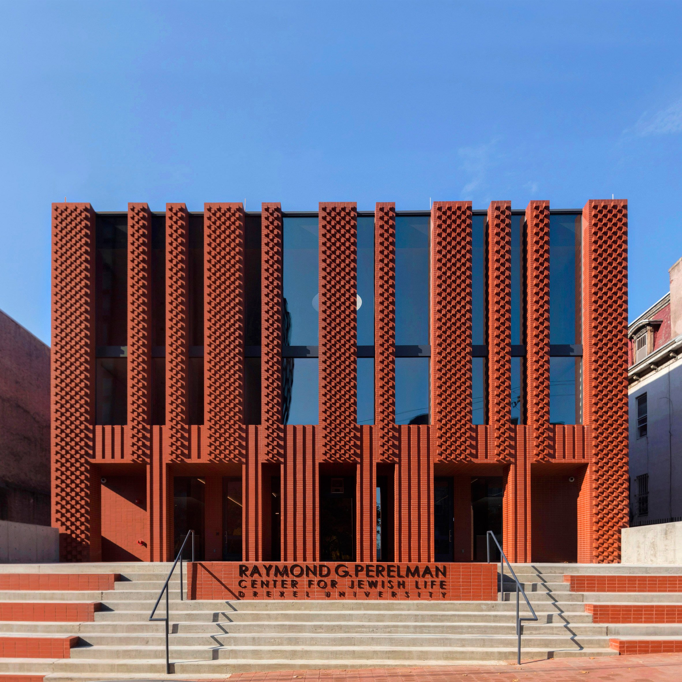 Architectural brick facades images for Red landscape architects