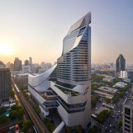 AL_A completes aluminium-plated tower block in central Bangkok