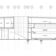 Section plan for Circus Conservatory by Höweler + Yoon Architecture