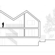 Section plan of Corbourg residence by Trevor Horne Architects and Philip Goldsmith