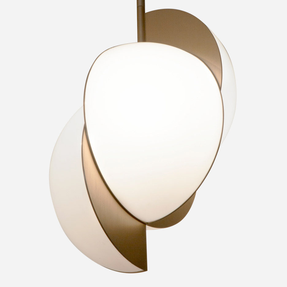 Lara Bohinc designs colliding orbs for first lighting collection