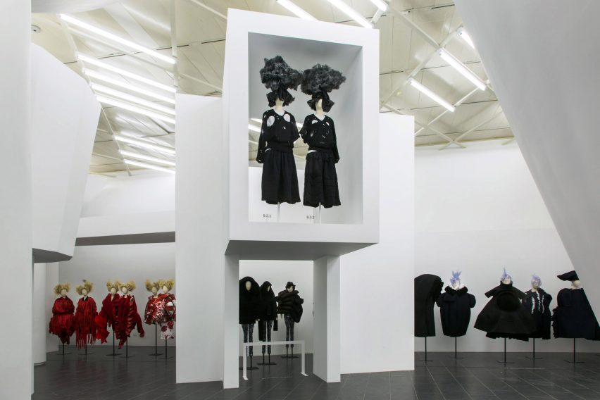 Comme des Garçons fashion exhibition at The Met in New York; Gallery View, Clothes/Not Clothes