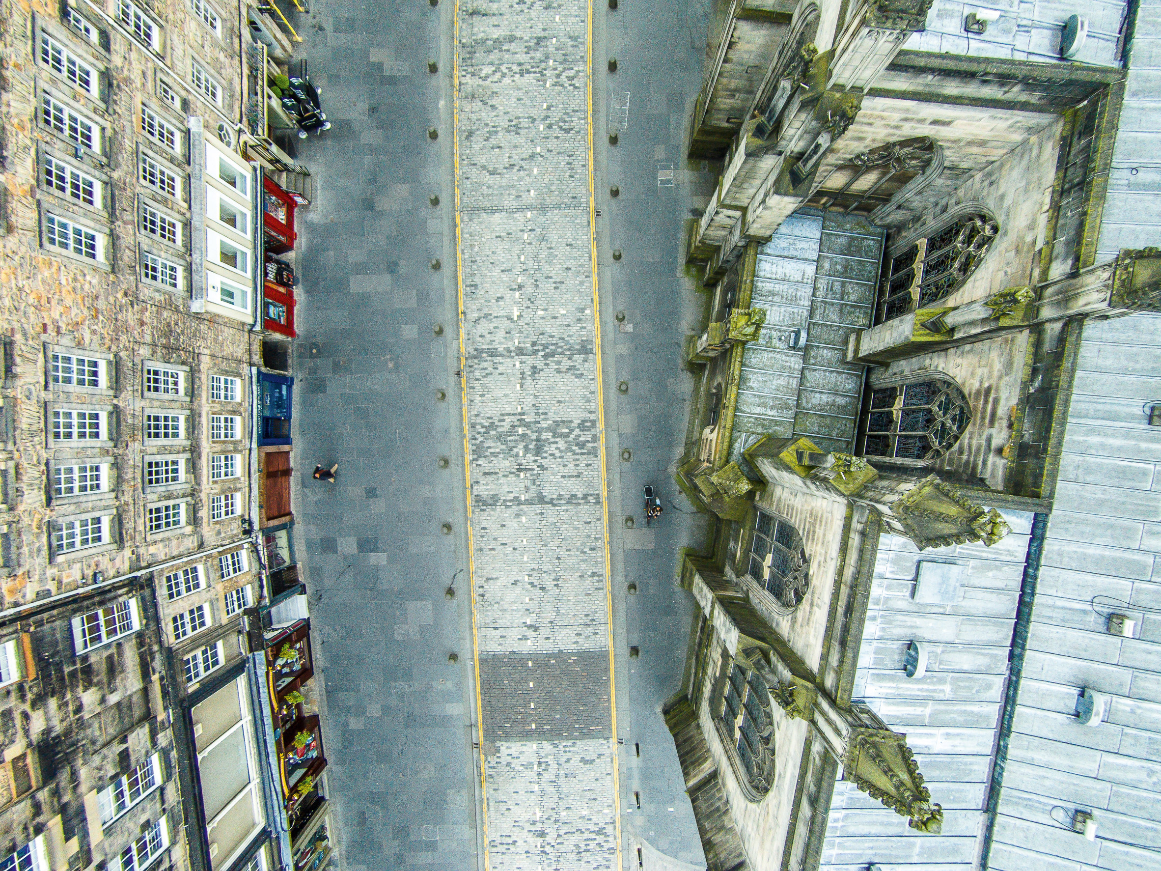 Francesco Gernones Photographs Show The Streets Of Edinburgh From A Drones Eye View