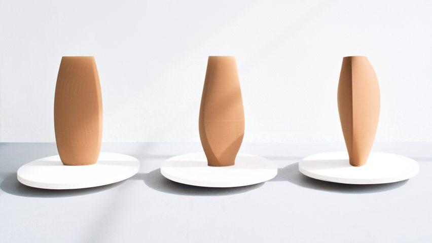 COS x Olivier van Herpt 3D-printed vases