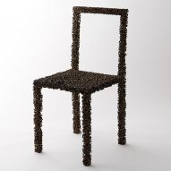 Pockmarked Drought chair by We+ takes shape as it dries