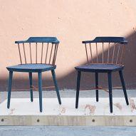 Crème creates indigo-dyed wooden furniture for Stellar Works