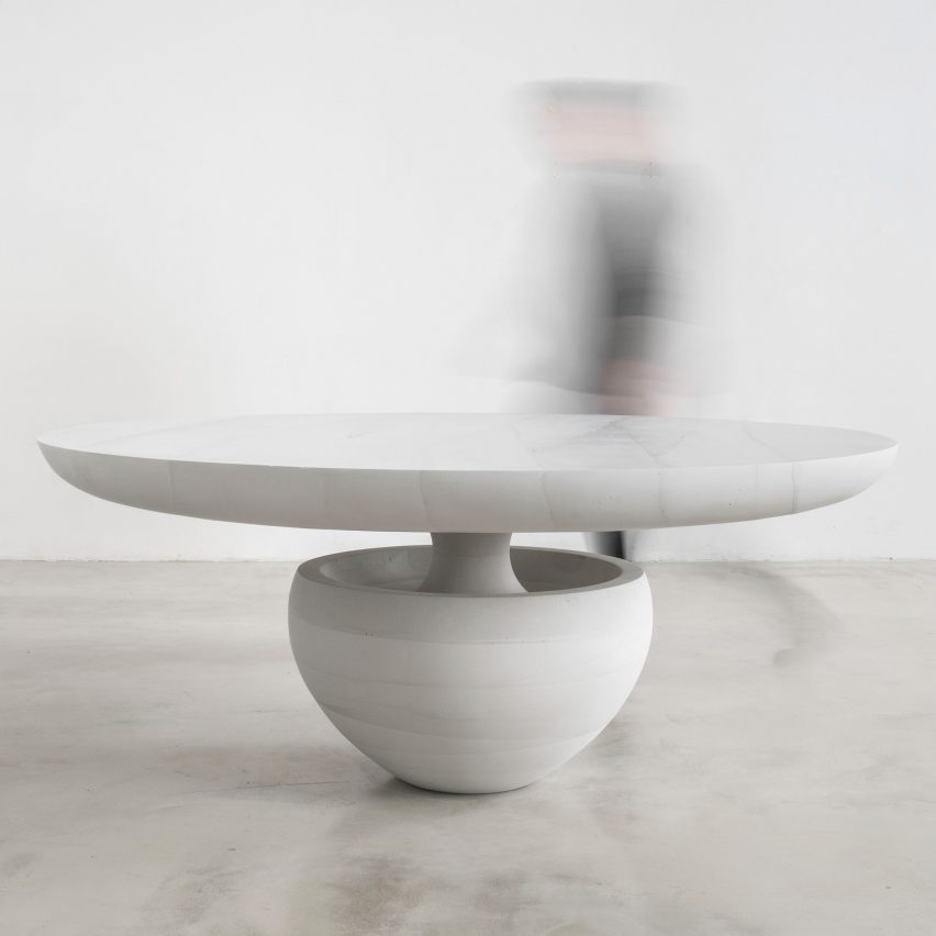 Ghost dining table by Fernando Mastrangelo