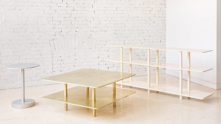 minimal wood coffee table fort standard unveils range of minimal metal furniture