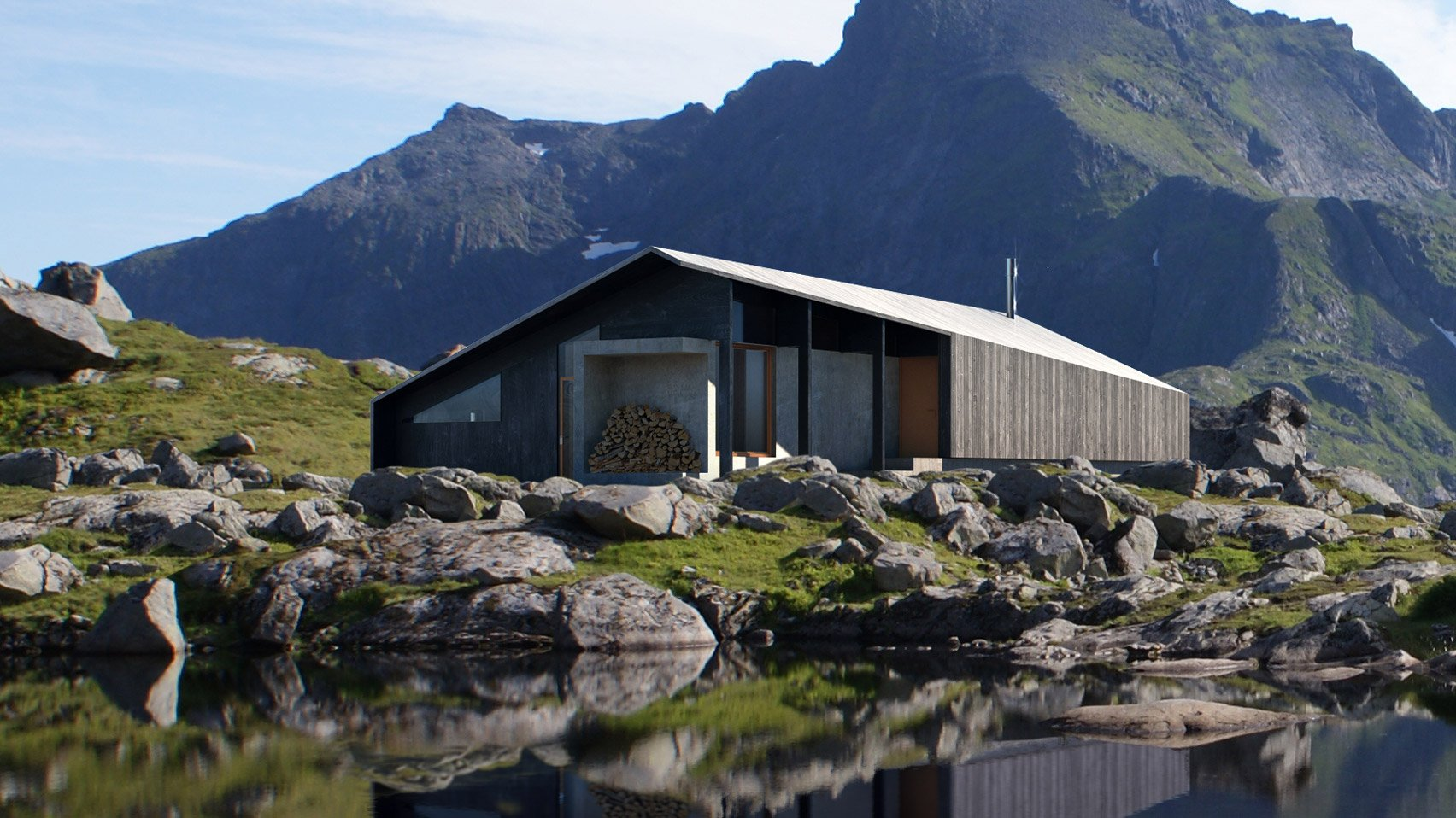 Snøhetta's prefab Gapahuk cabin references a traditional Norwegian