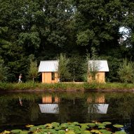 Timber and glass walls slide to reveal or enclose Caspar Schols' Garden House