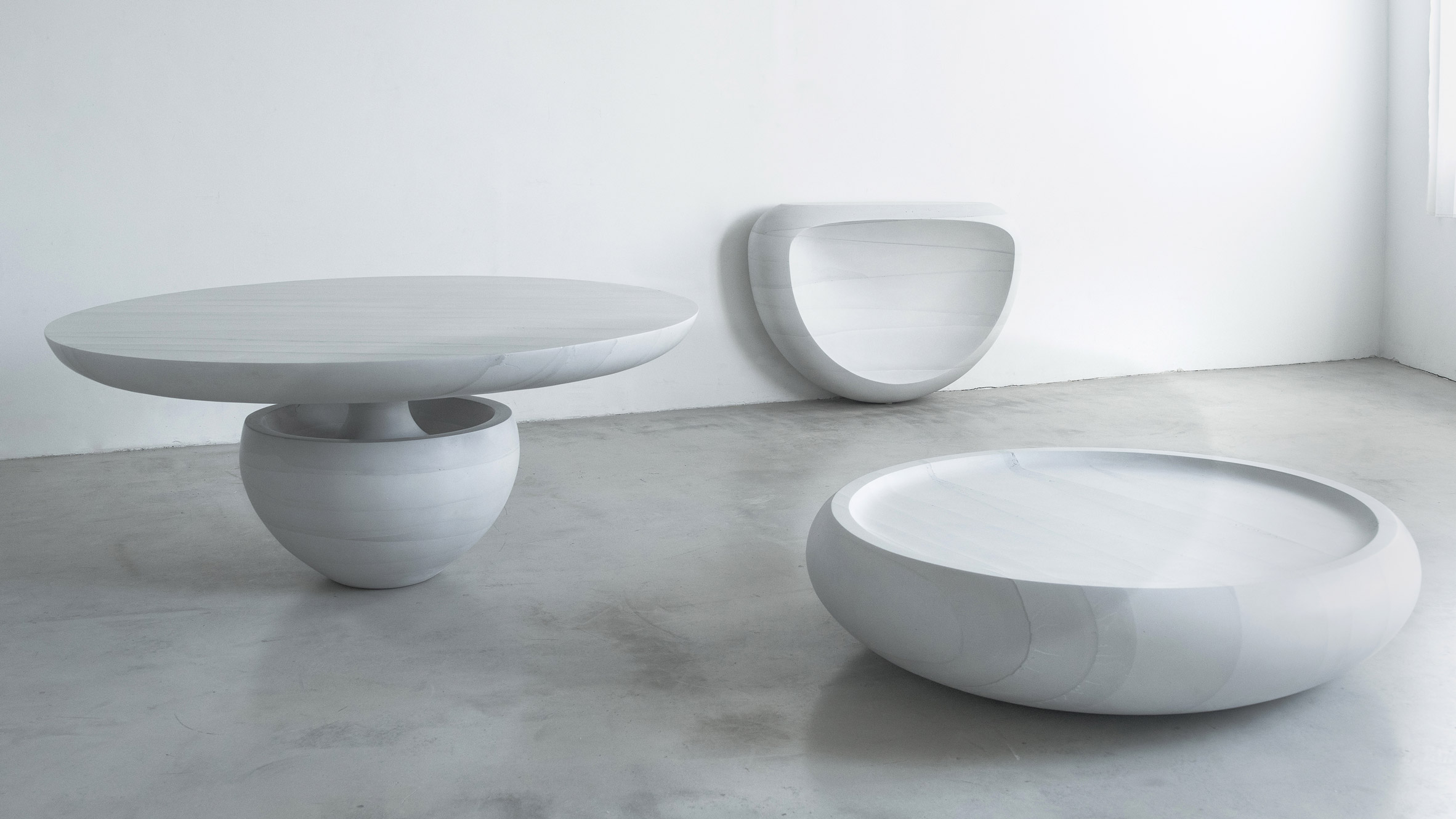"""Fernando Mastrangelo debuts """"butter soft"""" and icy sharp cement"""