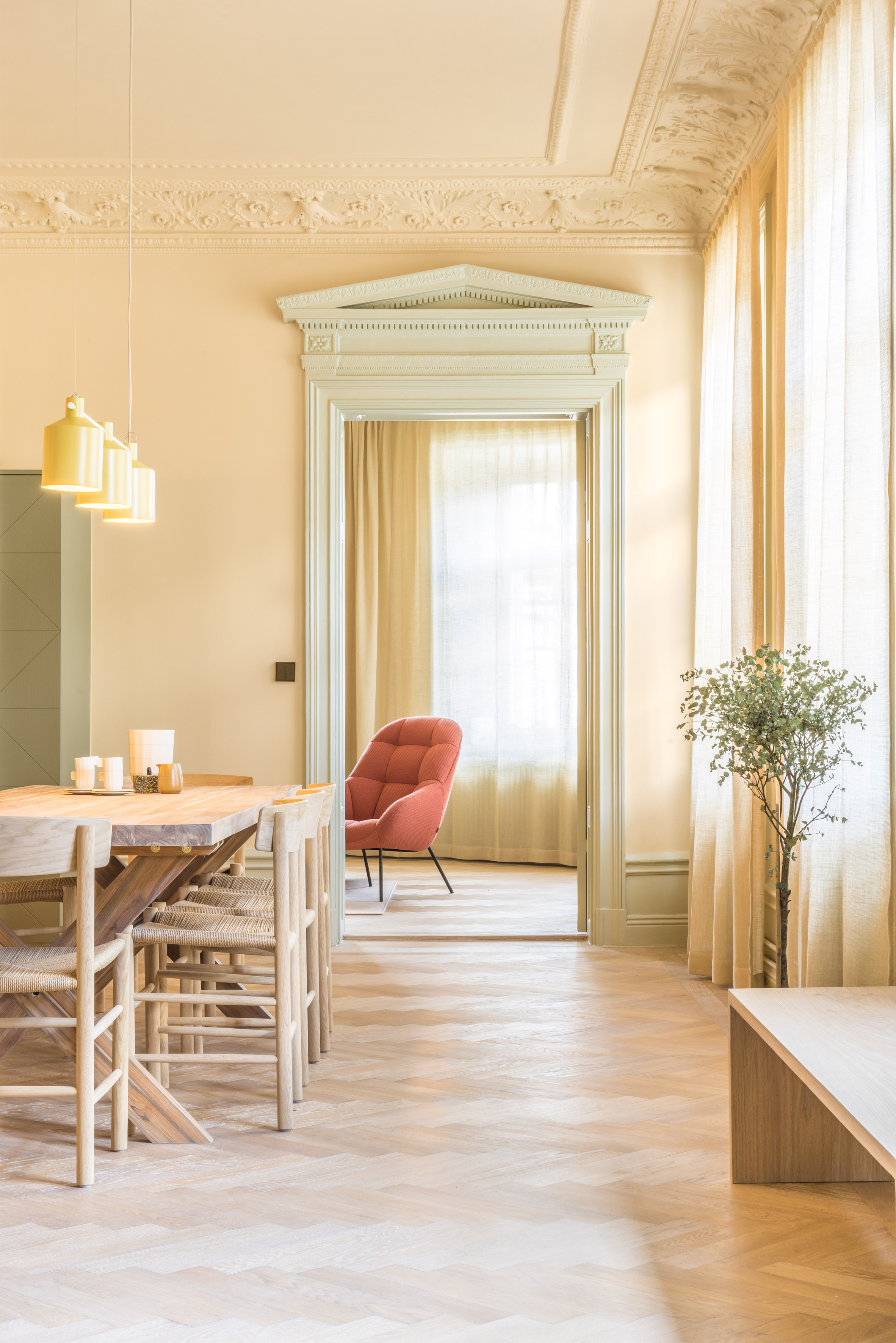 Note Design Studio celebrates pastel colours in revamp of 19th century property