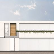 Section of Plan for House S1 by Evelop Arquitectura