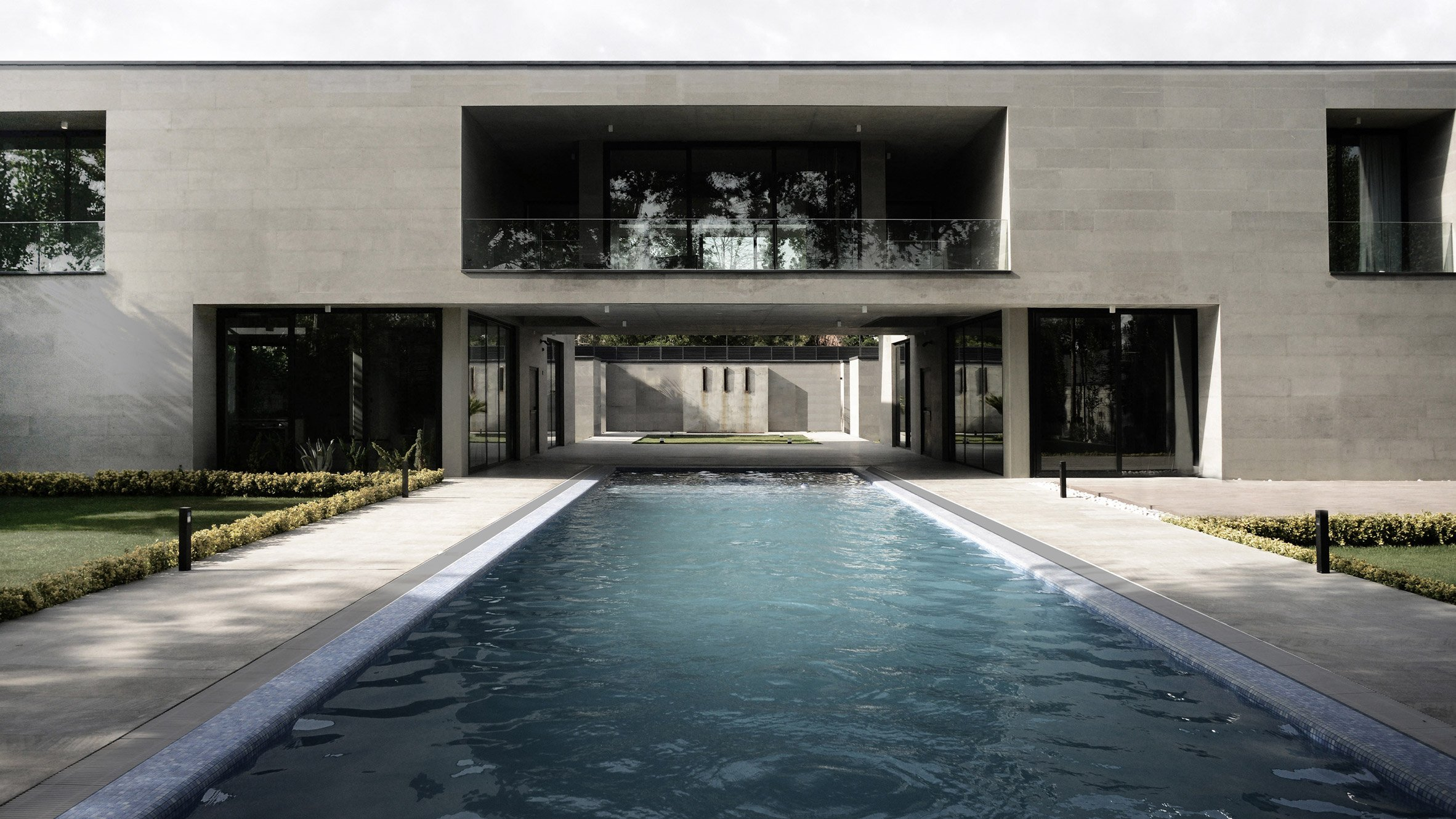 Swimming Pool Architecture Design design swimming pool with home with auergewhnlich ideas pool interior decoration is very interesting and beautiful Elevated Walkway Bridges Two Parts Of Iranian Holiday Home Divided By Swimming Pool