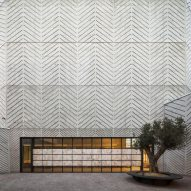 Gimeno + Guitart creates chevron-patterned concrete for church of Santa Maria Assumpta