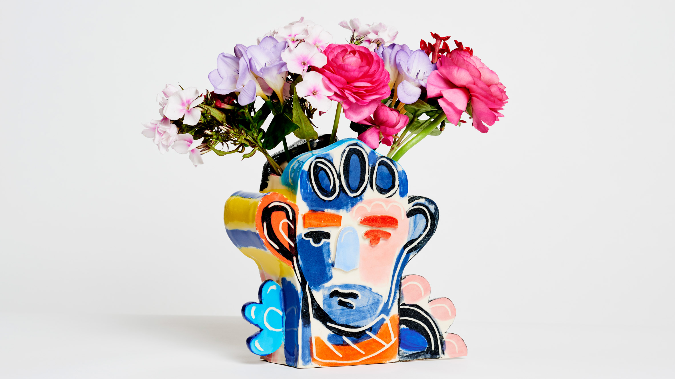 John booth hand paints abstract faces for tributes ceramics collection reviewsmspy
