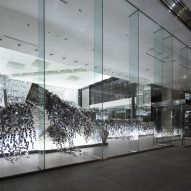 Kaleidoscopic ivy installation by Nendo