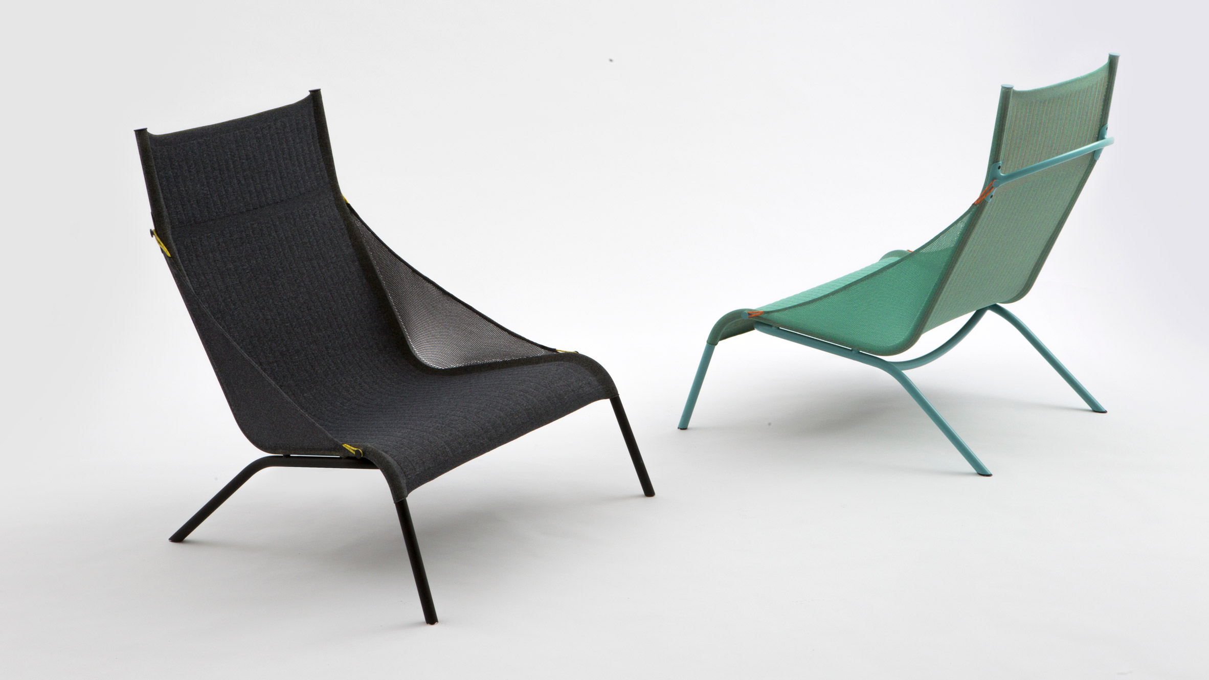 Benjamin Hubert s Tent chair for Moroso is made from knitted nylon