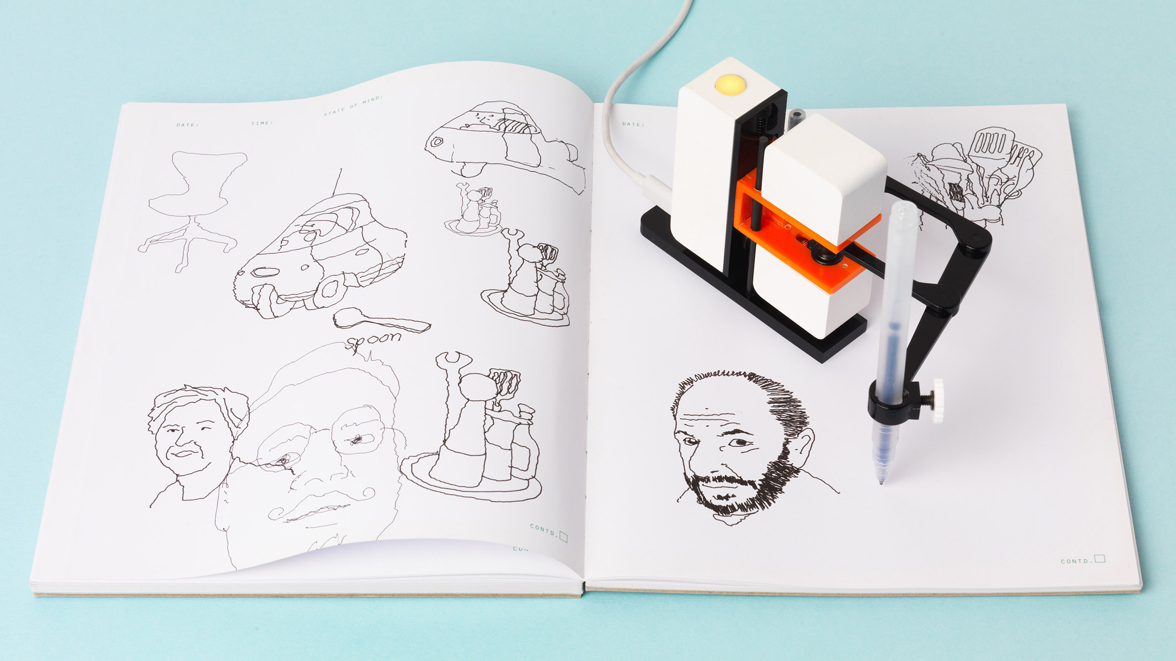 Affordable robot drawing arm brings computer sketches to
