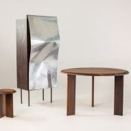 Southern African wood and galvanised metal combine in furniture by Mabeo